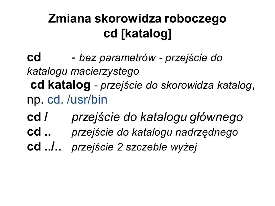 Zmiana skorowidza roboczego cd [katalog]